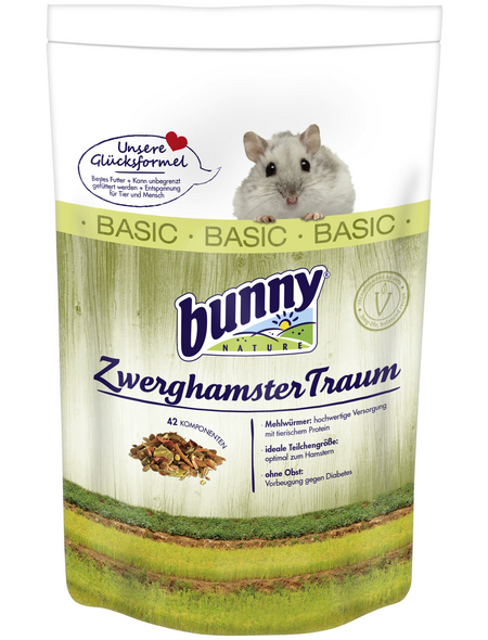 BUNNYNATURE Hamsterfutter »ZwerghamsterTraum Basic«, für Zwerghamster