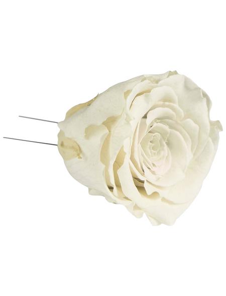 flowerbox Handgefertigte Christbaumschmuck-Rosen, Weiß