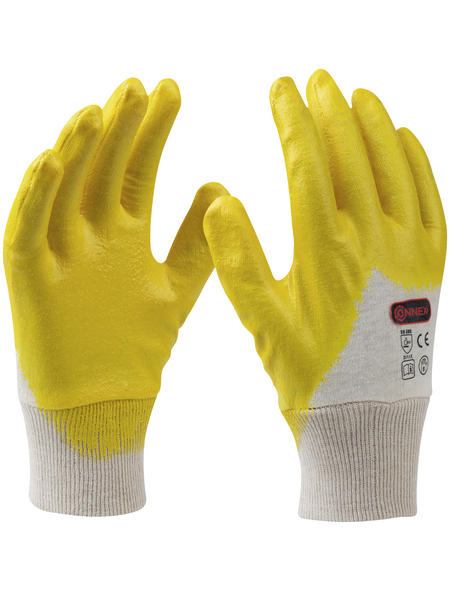 CONNEX Handschuh »Montage«, gelb, Nitrilbeschichtet