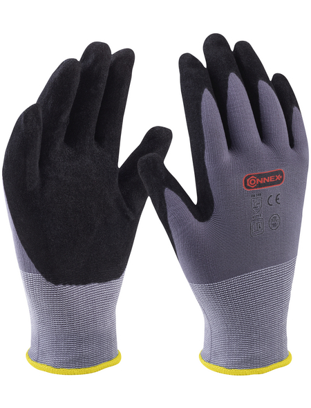 CONNEX Handschuh »Universal«, grau, nitrilbeschichtet/pu_beschichtet