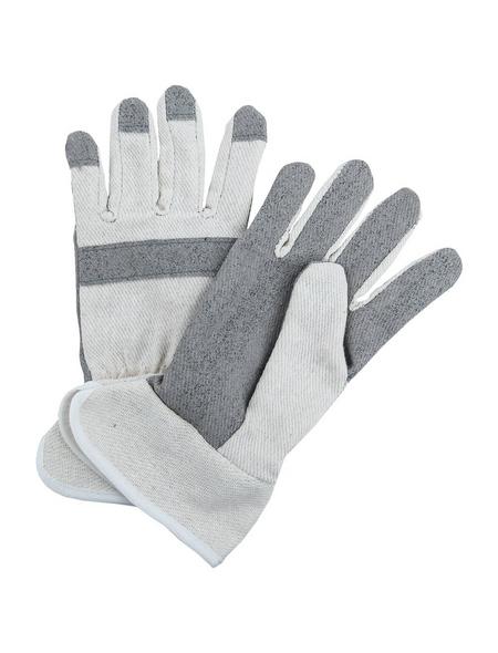 MR. GARDENER Handschuhe »Baumwolle grau/weiß«, weiss/grau