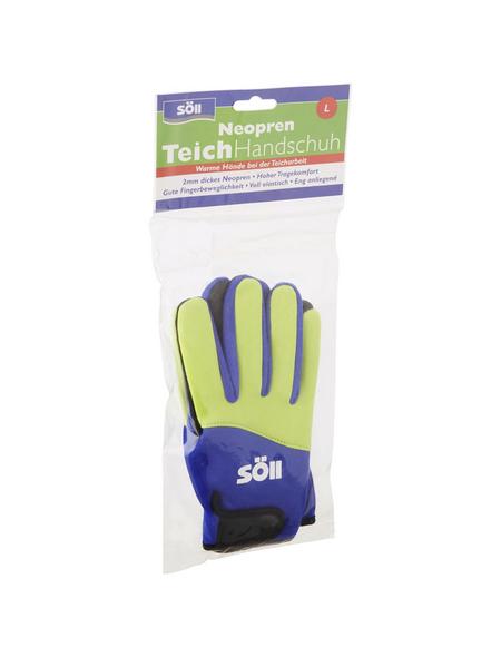 Handschuhe, Größe: L, gelb/blau