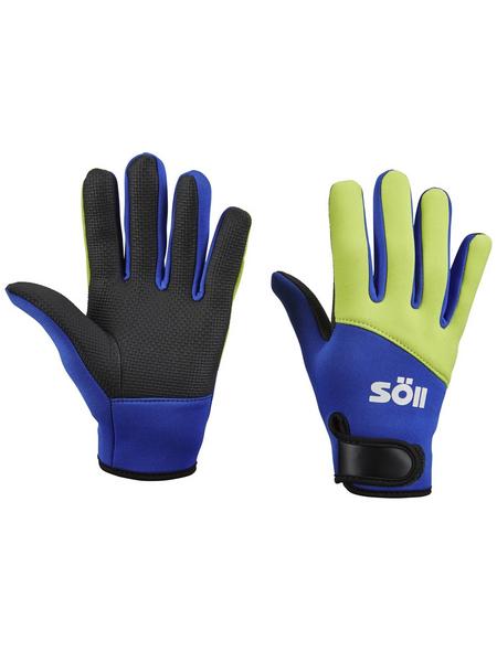 Handschuhe, Größe: M, gelb/blau