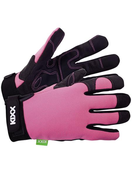 KIXX Handschuhe »Leder/Nylon«, rosa/schwarz