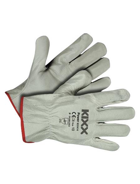 KIXX Handschuhe »Rindsleder«, hellgrau