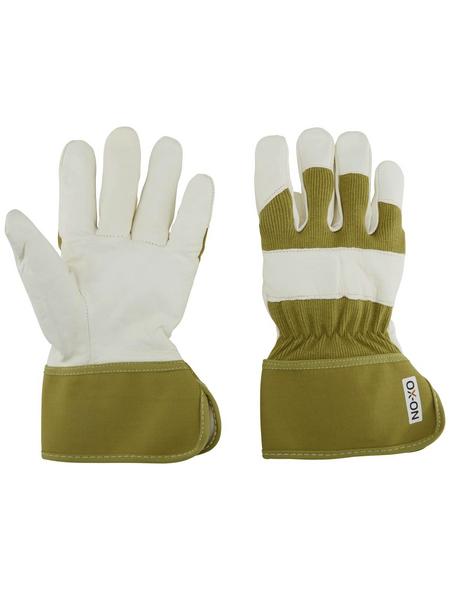 OX-ON Handschuhe »Supreme 7600«, weiss/gruen, Gummiummantelt