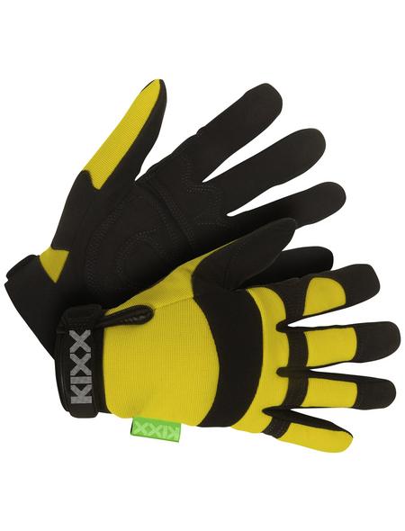 KIXX Handschuhe »Synthetik Leder«, gelb/schwarz