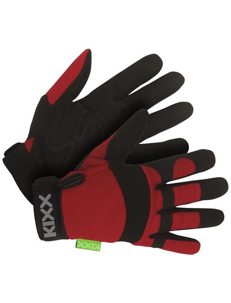 KIXX Handschuhe »Synthetik Leder«, schwarz/rot