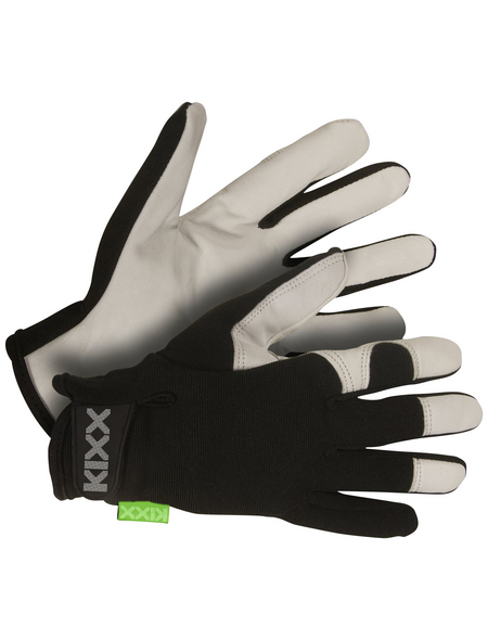 KIXX Handschuhe »Ziegenleder«, schwarz/hellgrau