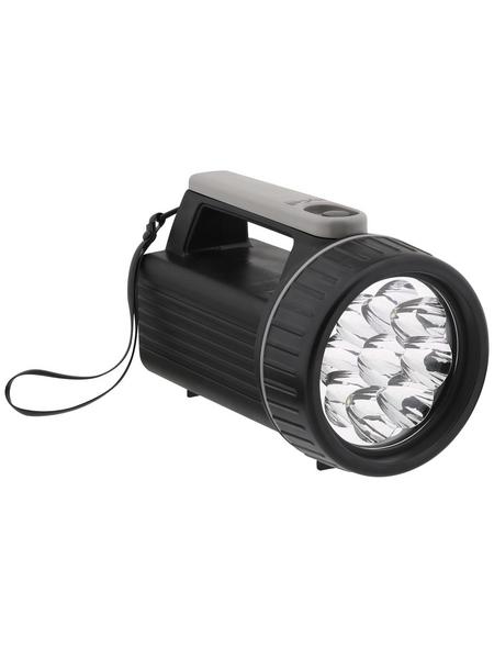 hyCell Handstrahler, Mono LR20 D, 6V-Block 4R25, LED, Schwarz, Kunststoff