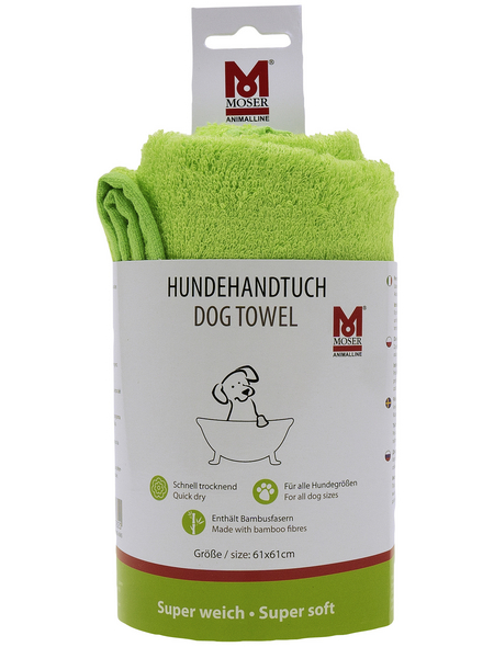 MOSER Handtuch, grün/grau