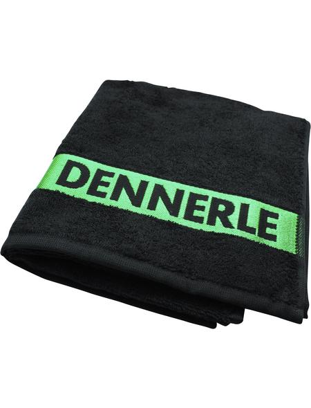 DENNERLE Handtuch, Mit Aufdruck, Baumwolle, Schwarz   Grün, LxB: 60 x 38 cm