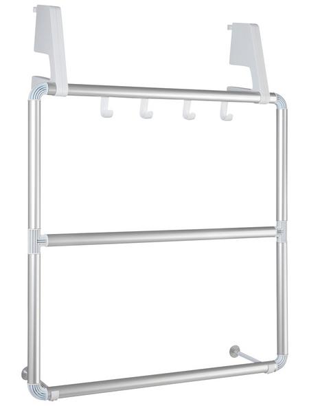 WENKO Handtuchhalter »Compact«, silberfarben matt