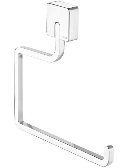 TIGER Handtuchhalter »Impuls«, BxHxT: 20 x 20 x 1,8 cm, chromfarben