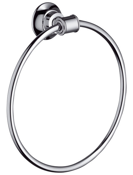 HANSGROHE Handtuchring »Axor Montreux«, silberfarben