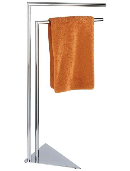 WENKO Handtuchstange, chromfarben, für Handtücher, Kleidung