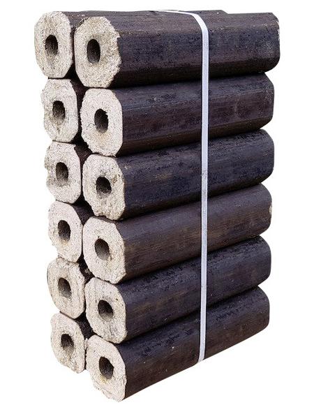 Hartholzbriketts, reine Holzspäne, 10 kg