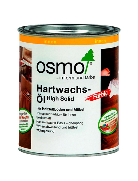 OSMO Hartwachsöl »High Solid«, bernsteinfarben, seidenmatt, 0,75 l