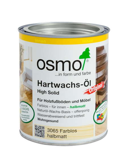 OSMO Hartwachsöl »High Solid«, farblos, halbmatt, 0,75 l
