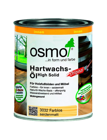 OSMO Hartwachsöl »High Solid«, farblos, seidenmatt, 0,75 l