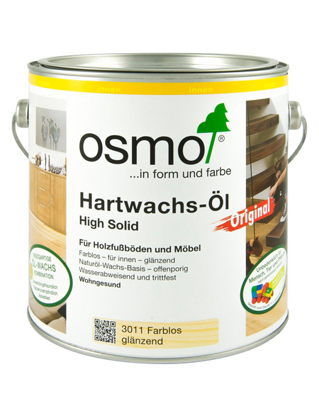 OSMO Hartwachsöl High Solid transparent 2,5 l