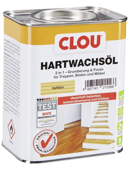 CLOU Hartwachsöl, transparent, seidenglänzend, 0,75 l