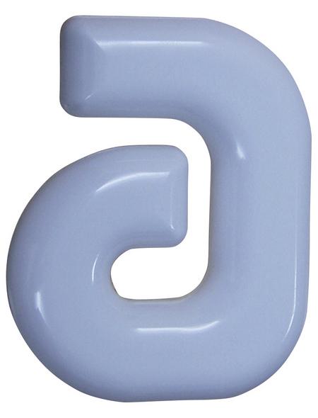 SÜDMETALL Hausnummer, a, Weiß, Kunststoff, 15,7 x 22,7 x 1,8 cm