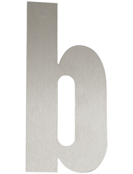 SÜDMETALL Hausnummer, b, Silber, Edelstahl, 15,7 x 22,7 x 1,8 cm