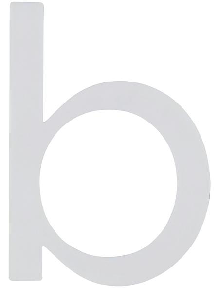 SÜDMETALL Hausnummer, b, Weiß, Kunststoff, 9,7 x 18 x 0,4 cm, nachtleuchtend