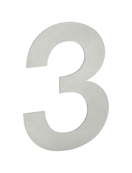 ANSAPRO Hausnummer Nr. 3, silberfarben