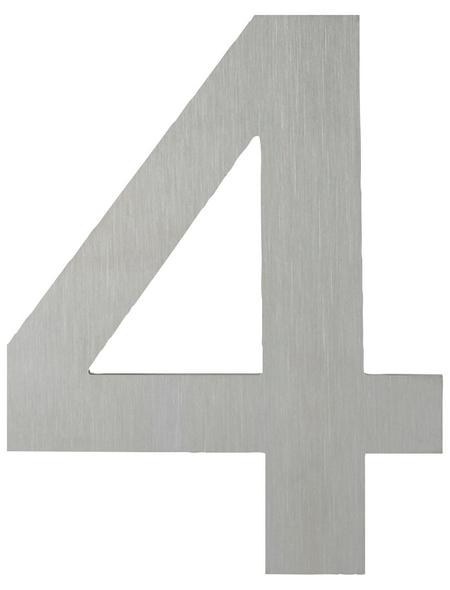 ANSAPRO Hausnummer Nr. 4, silberfarben