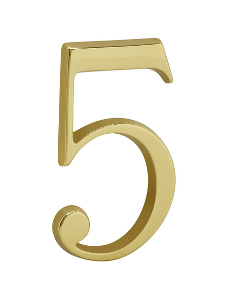 ANSAPRO Hausnummer Nr. 5, goldfarben