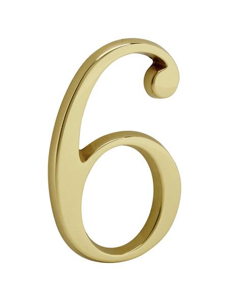 ANSAPRO Hausnummer Nr. 6, goldfarben
