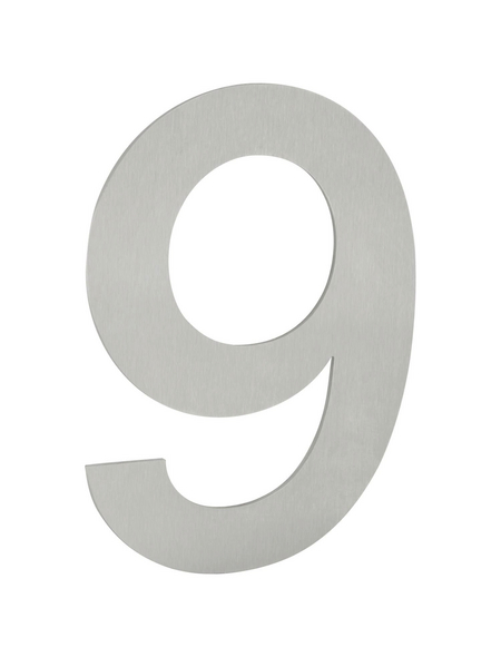 ANSAPRO Hausnummer, Nr. 9, silberfarben, Stahl