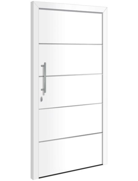 RORO Haustür »Hagen«, Aluminium, weiß