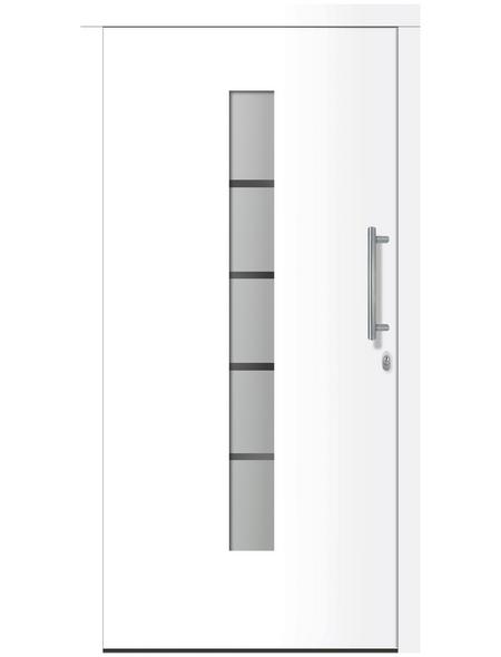 RORO Haustür »R351 Luxus«, Aluminium/Kunststoff, weiß