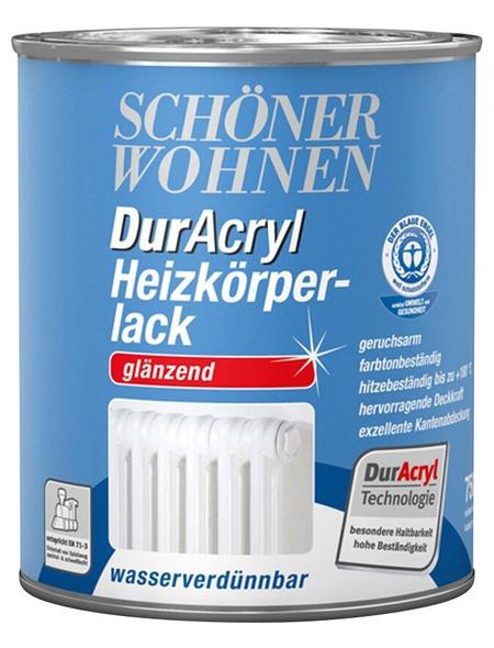 SCHÖNER WOHNEN FARBE Heizkörperlack »DurAcryl glänzend«, weiß, glänzend