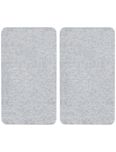 WENKO Herdabdeckplatte, BxHxT: 3 x 1,8 x 52 cm, Glas/Kunststoff, transparent