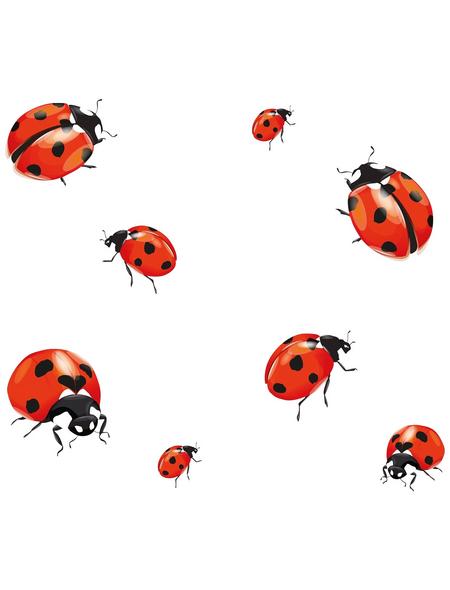 WENKO Herdabdeckplatte »Ladybird«, BxHxL: 3 x 5,5 x 52 cm, gehärtetes Glas, mehrfarbig