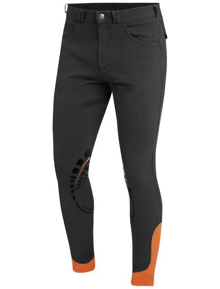 Schockenmöhle Sports Herrenreithose Draco Grip, Größe: 46, grey/orange