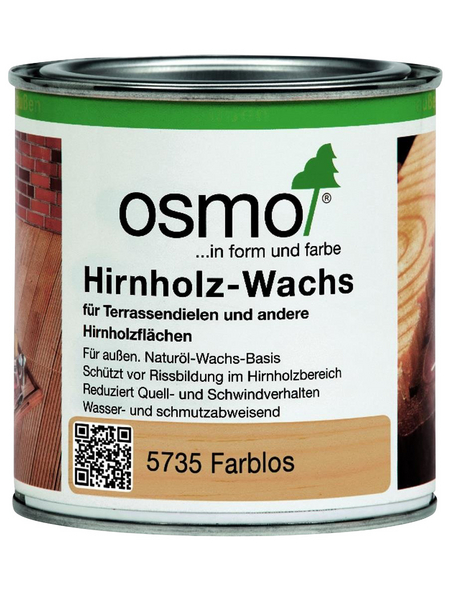 OSMO Hirnholz-Wachs, für außen, 0,0,375 l, farblos, seidenmatt
