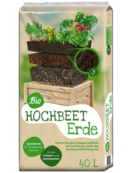 FLORAGARD Hochbeet-Erde »Bio«, für Hochbeete