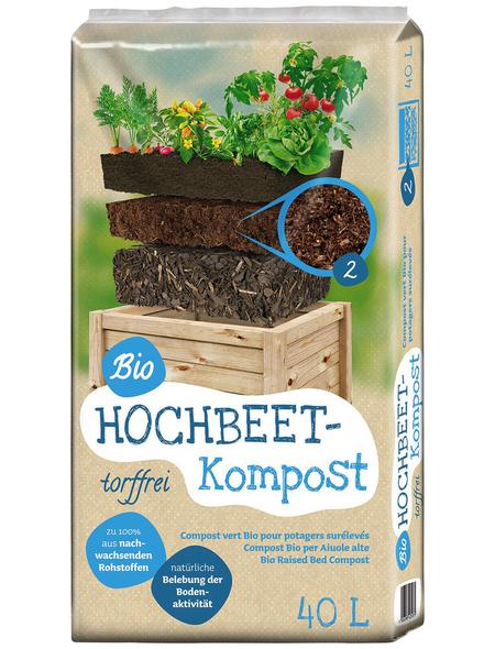FLORAGARD Hochbeetkompost »Bio«, für Hochbeete, torffrei