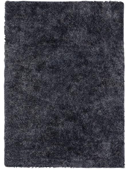 b.b home passion Hochflor-Teppich »BB«, BxL: 70 x 140 cm, blau