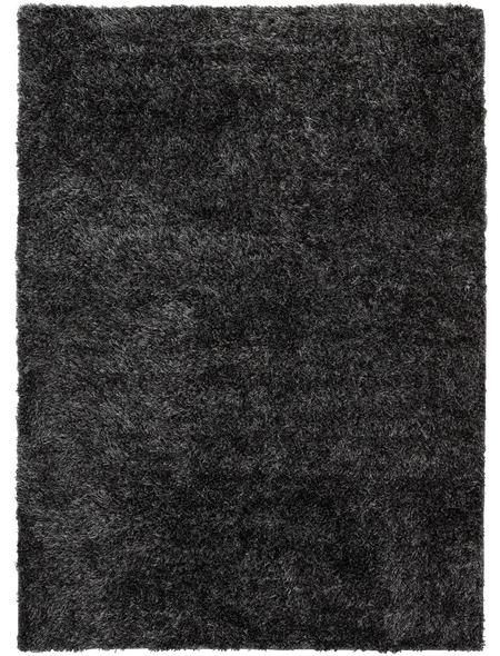 b.b home passion Hochflor-Teppich »BB«, BxL: 70 x 140 cm, grau