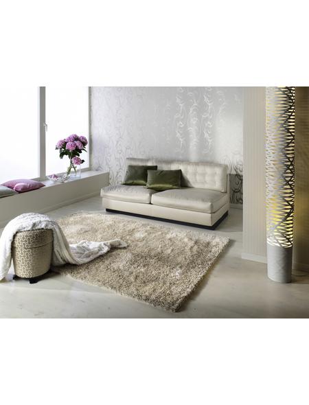 b.b home passion Hochflor-Teppich »BB Emotion«, BxL: 70 x 140 cm, creme