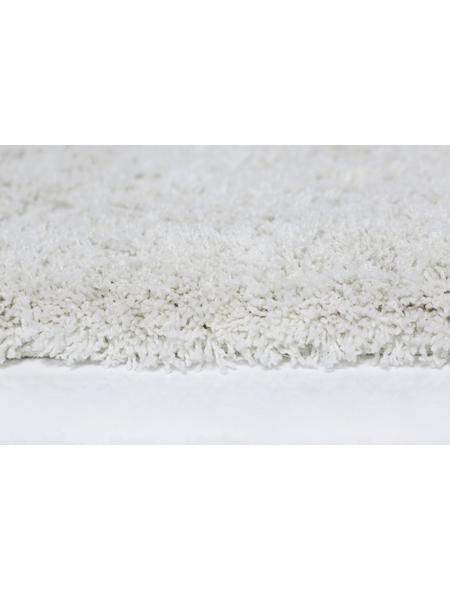 Hochflor-Teppich, BxL: 140 x 200 cm, creme
