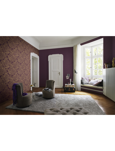 Hochflor-Teppich, BxL: 70 x 140 cm, beige