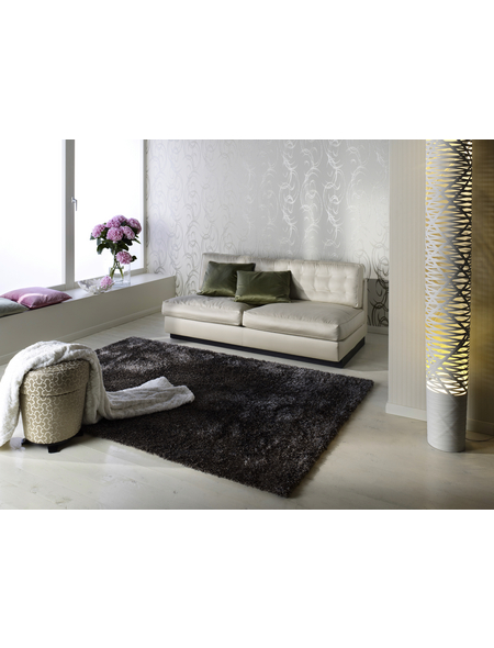 b.b home passion Hochflor-Teppich »Shaggy«, BxL: 70 x 140 cm, taupe