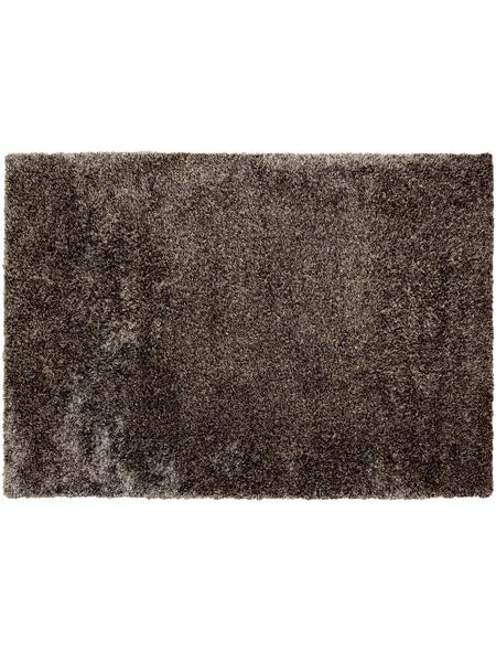 b.b home passion Hochflor-Teppich »Shaggy«, BxL: 70 x 140 cm, taupe